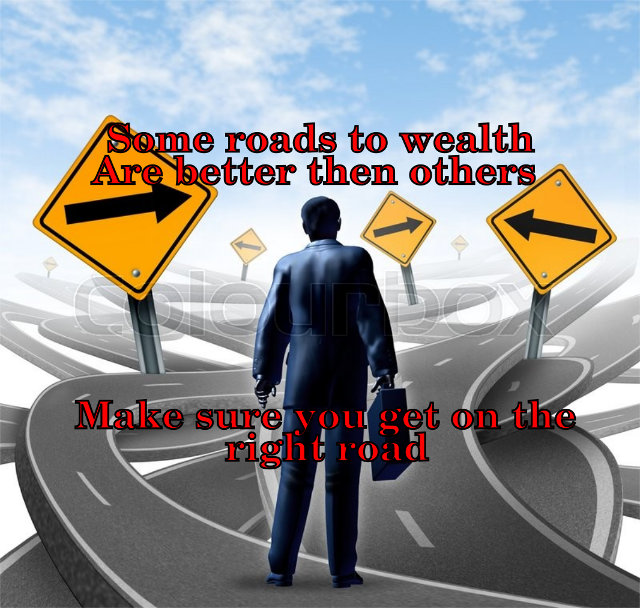 The roads to building wealth